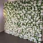 White & green flower wall 2